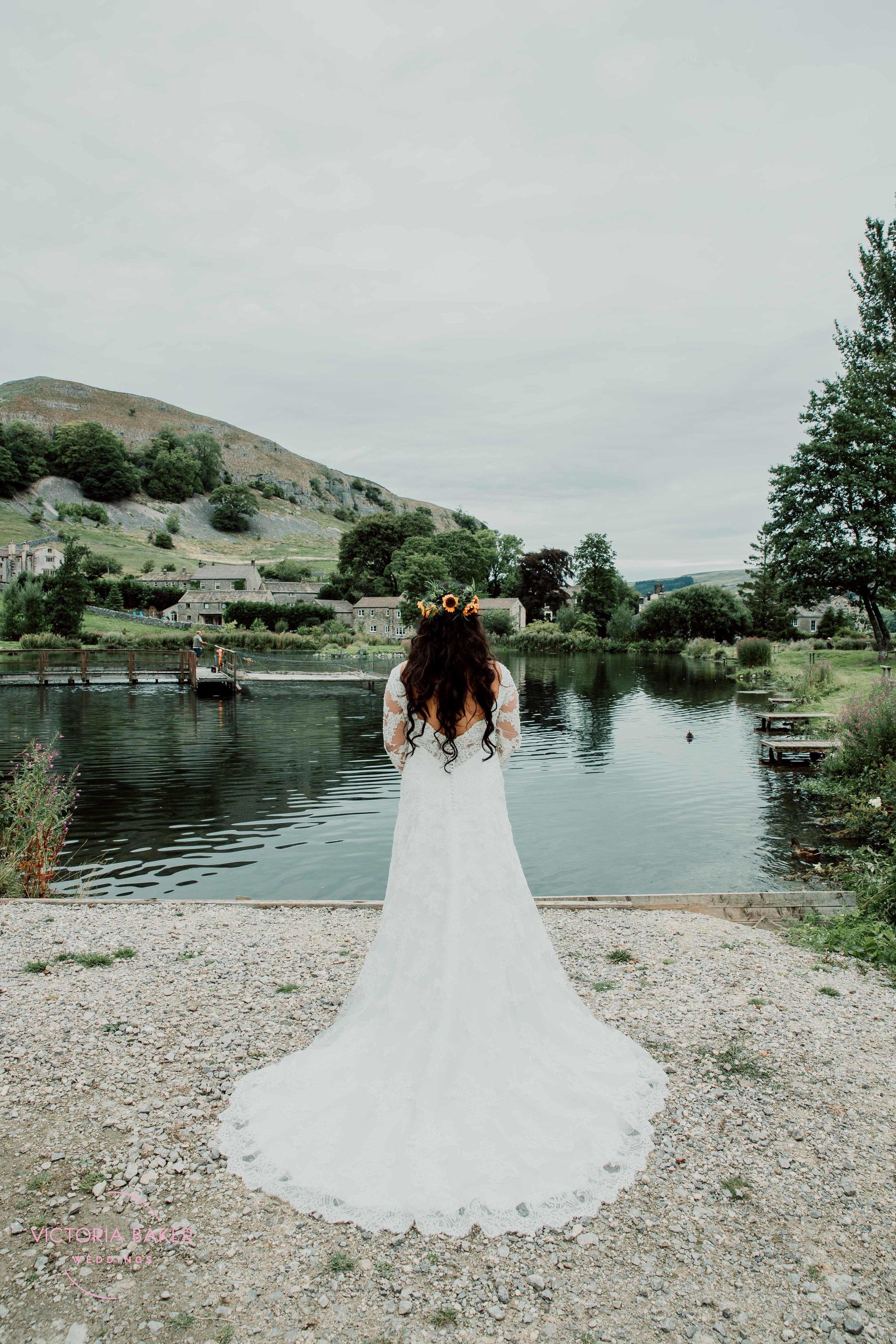 Bride at Kilnsey Park Estate