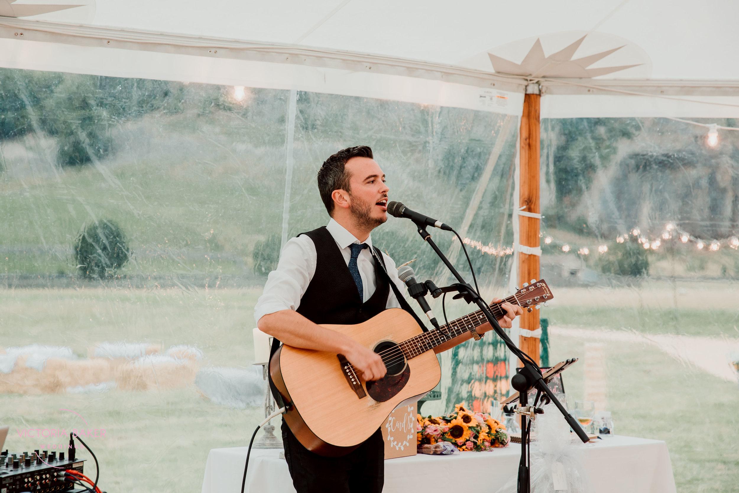 Musician at Kilnsey Park Estate