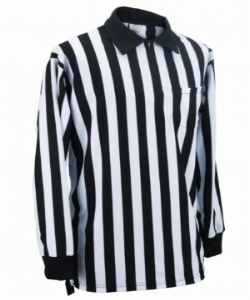 POLYESTER LONG SLEEVE REFEREE SHIRT  - $42