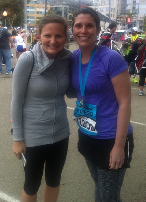 After my second race; the San Diego Rock N' Roll Half-Marathon