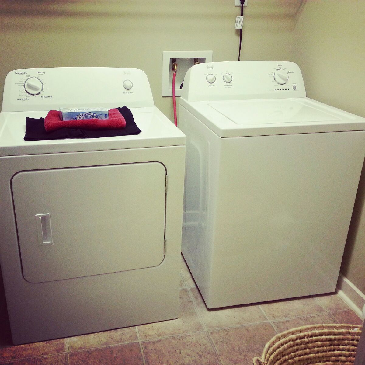 First load in my new washer and dryer!