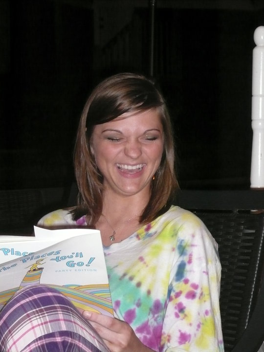 Me opening my high school graduation present! A cruise!...No judgement on my excited face.