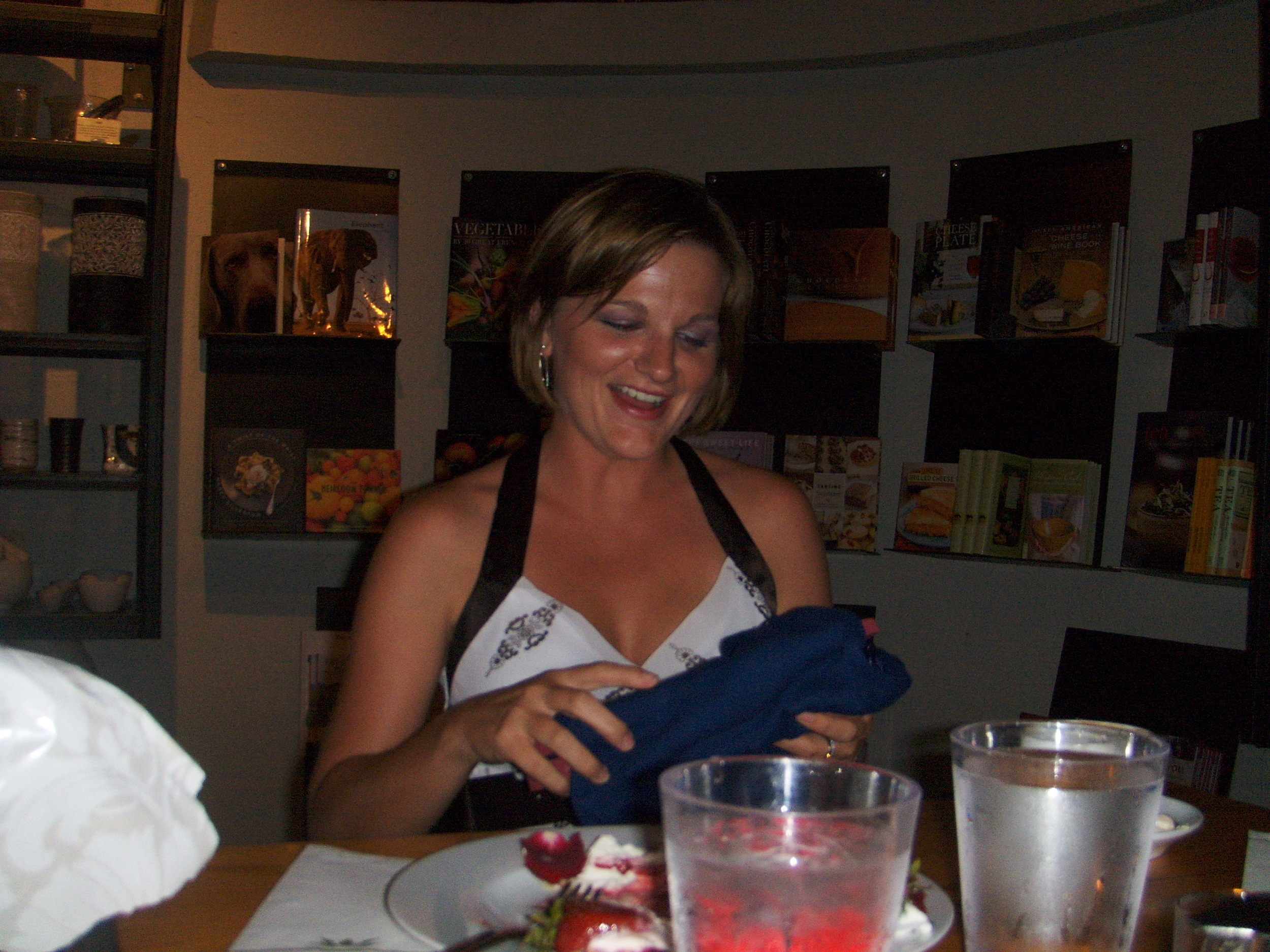 Heather'sdesigner wallet for her birthday!