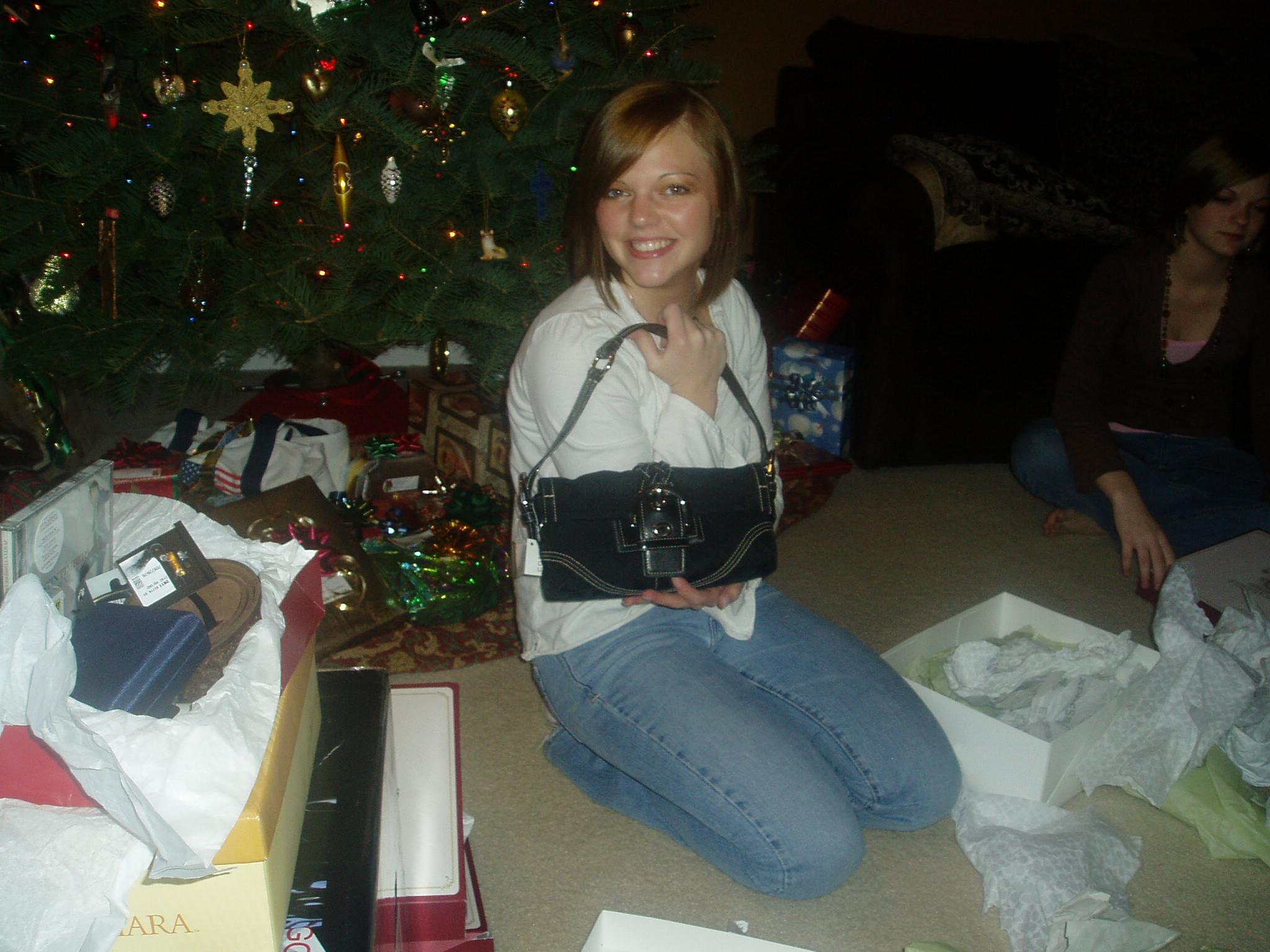 Jessica's purse she got for christmas.