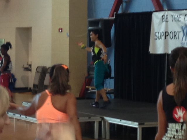 Instructor Nicole showing us the moves!