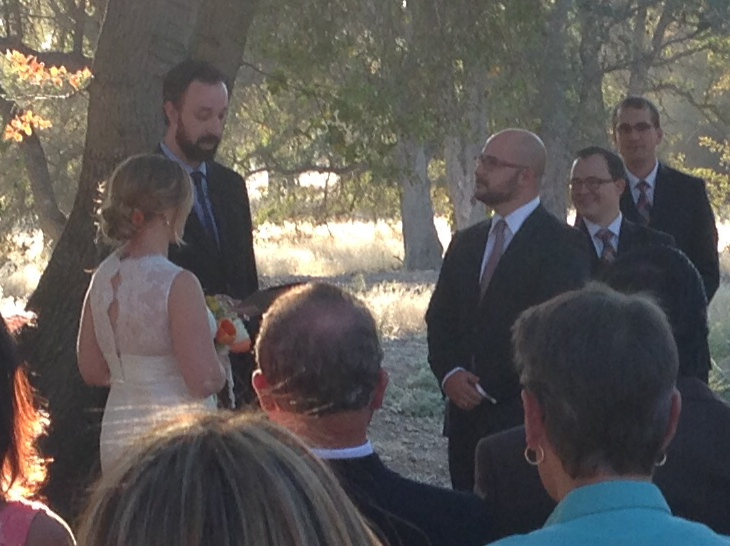 A First Tier officiates the nuptials.