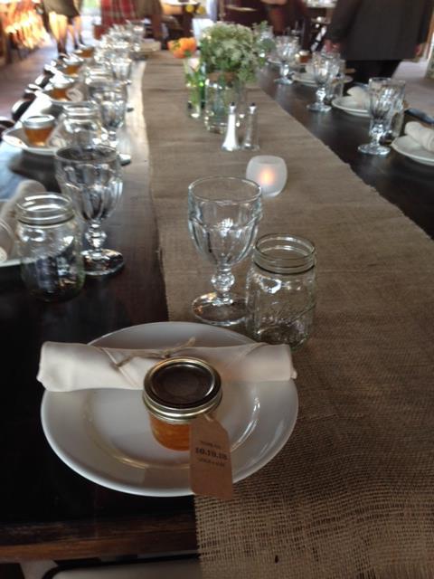 Table settings.