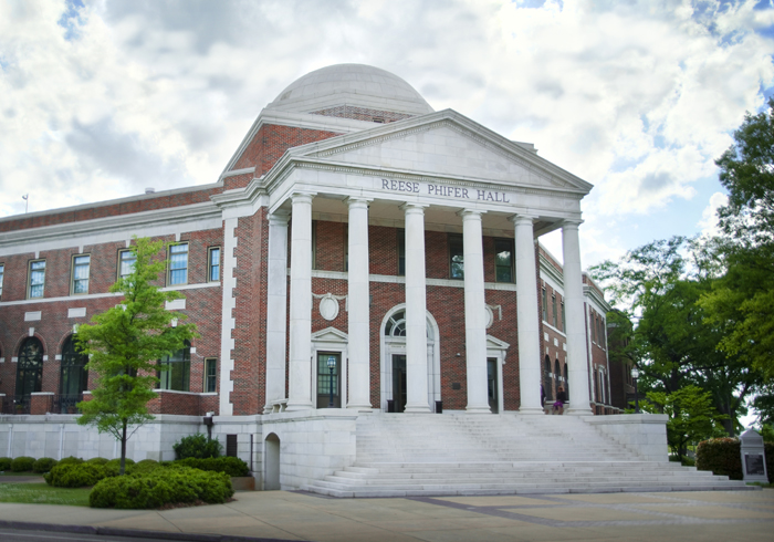 Reese Phifer Hall. Home of the College of Communications.