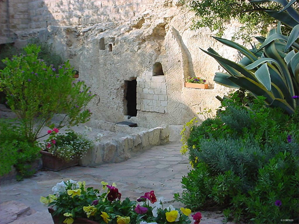The Garden Tomb where Jesus may have been laid.