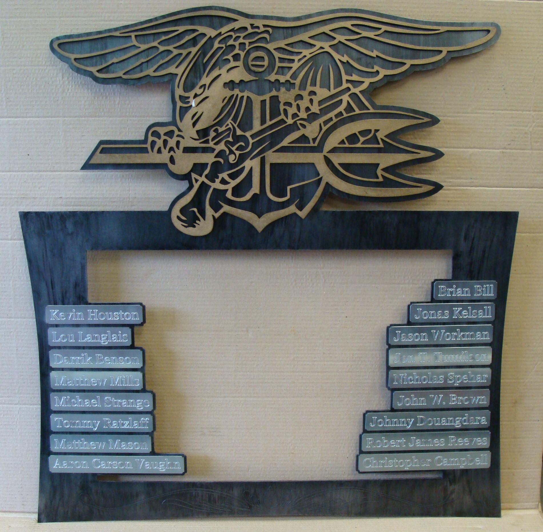 Custom steel memorial picture frame