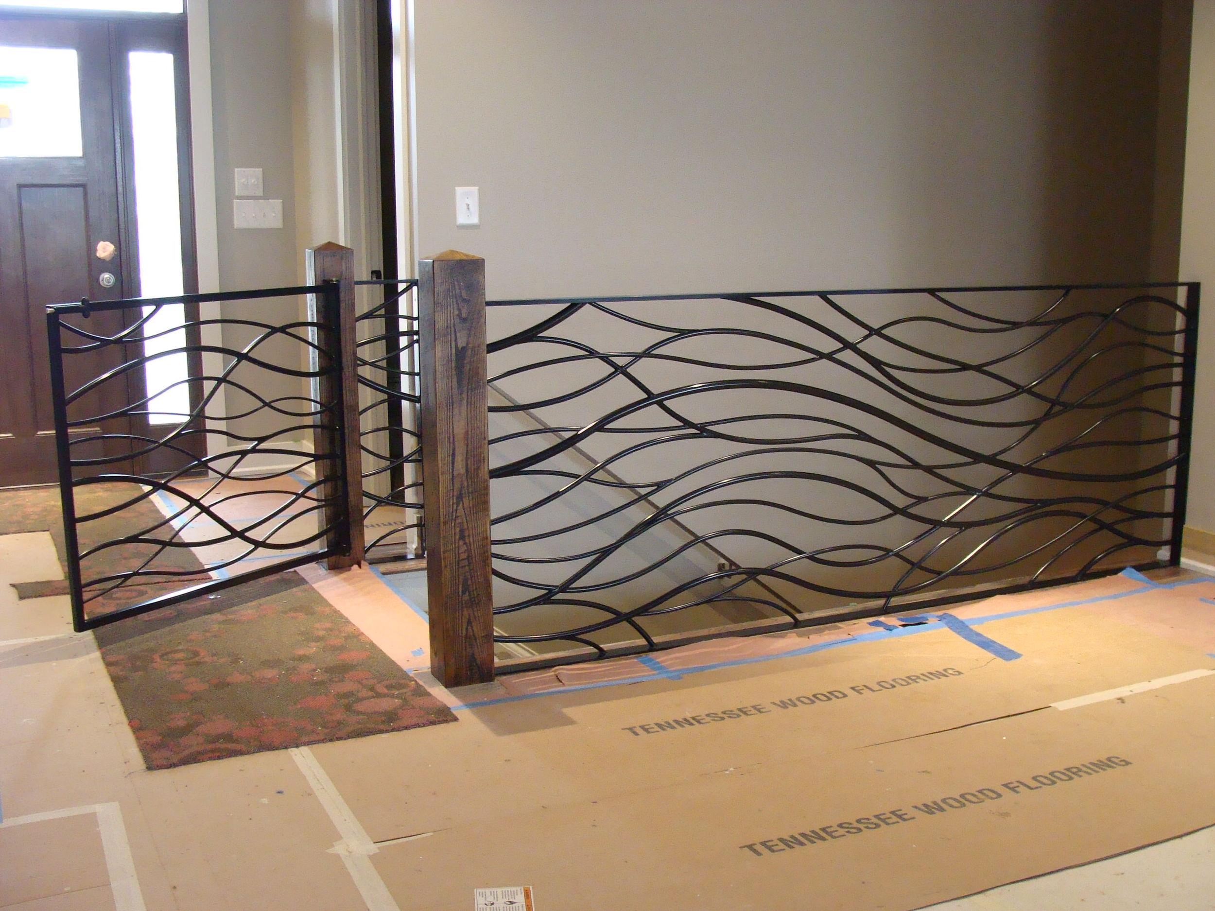 Custom organic steel railing & gate