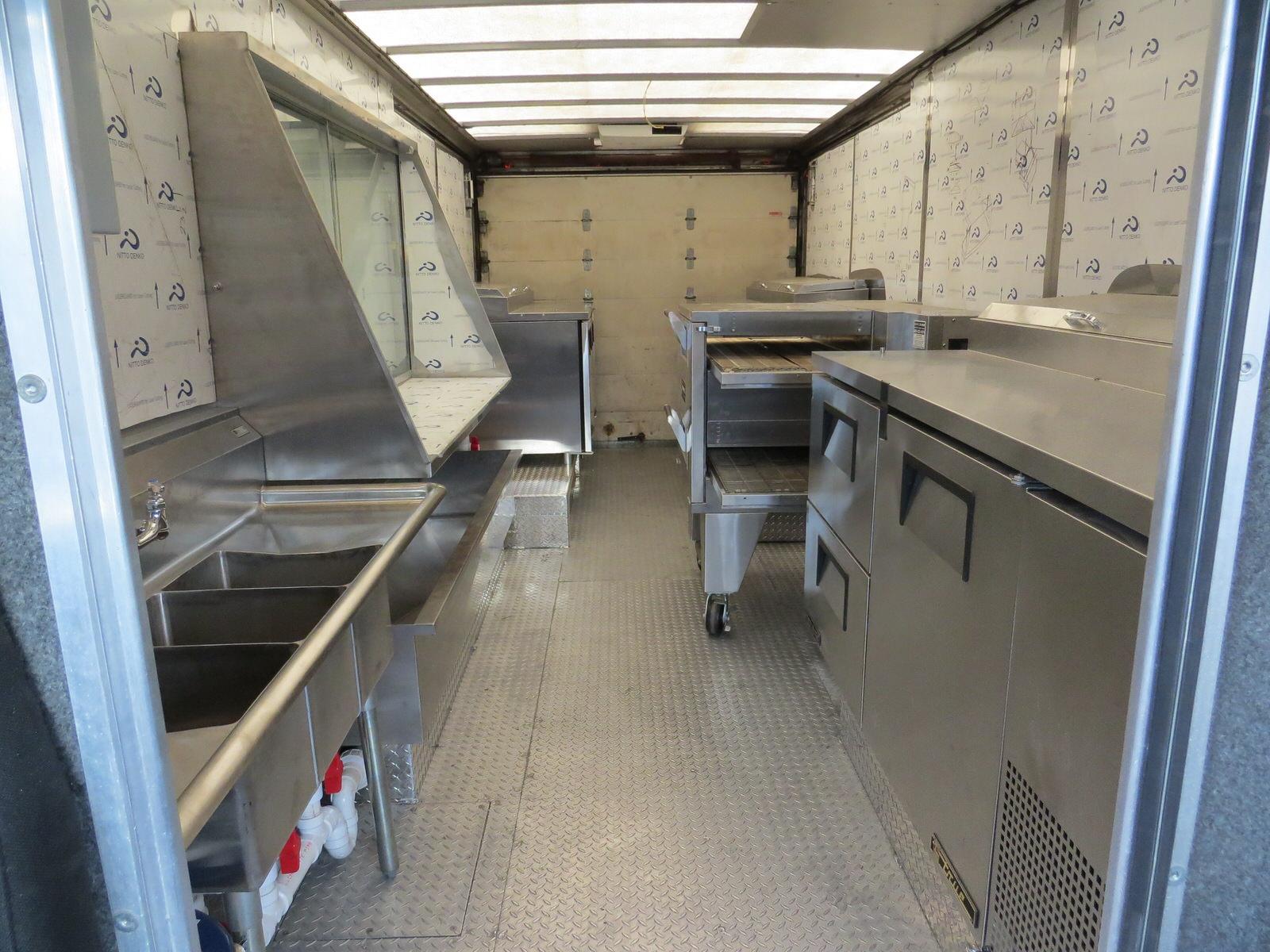 The Brozinni Pizzeria food truck's interior features custom aluminum diamond tread floor plating and much more.