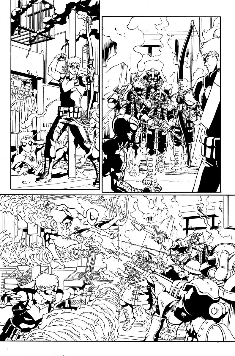 Spider-Man samples, page 2, CO Marvel Entertainment
