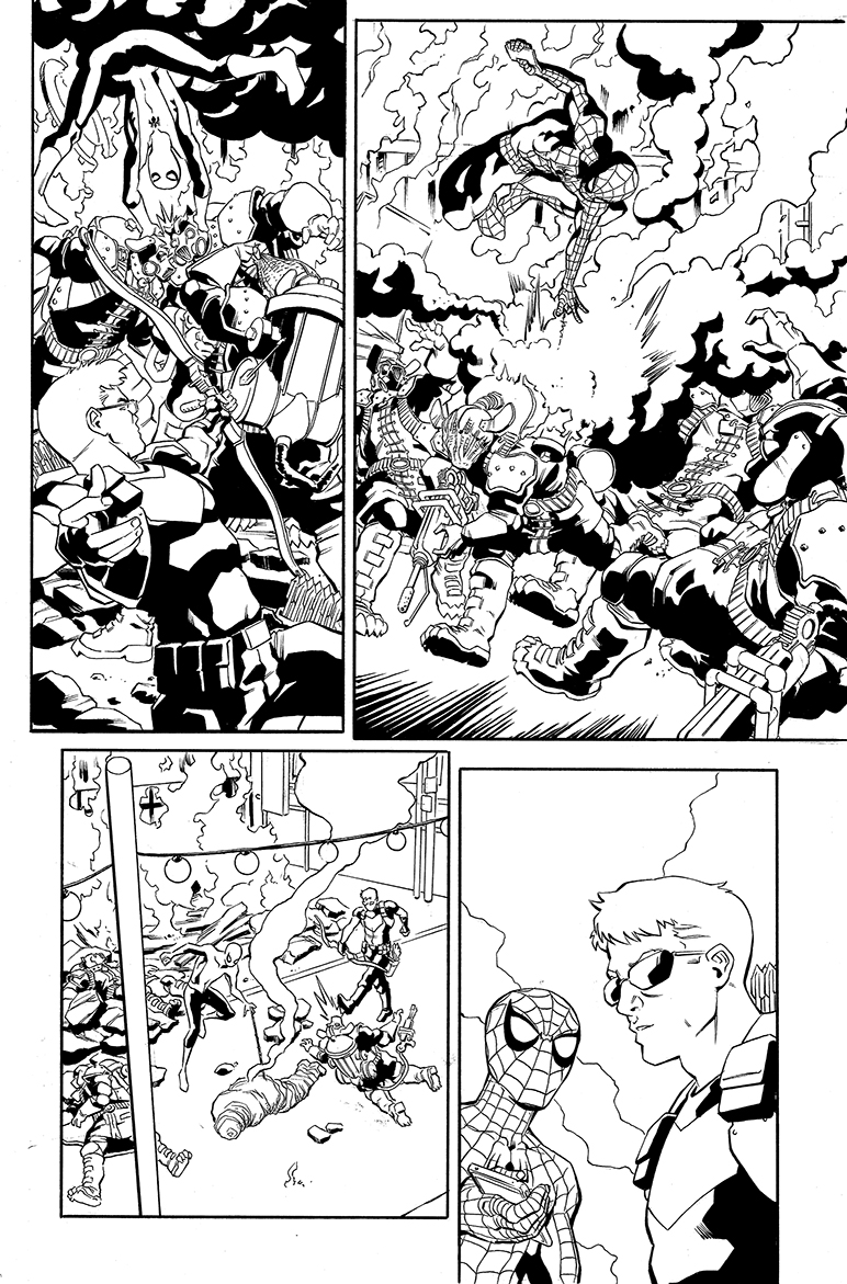 Spider-Man samples, page 3, CO Marvel Entertainment