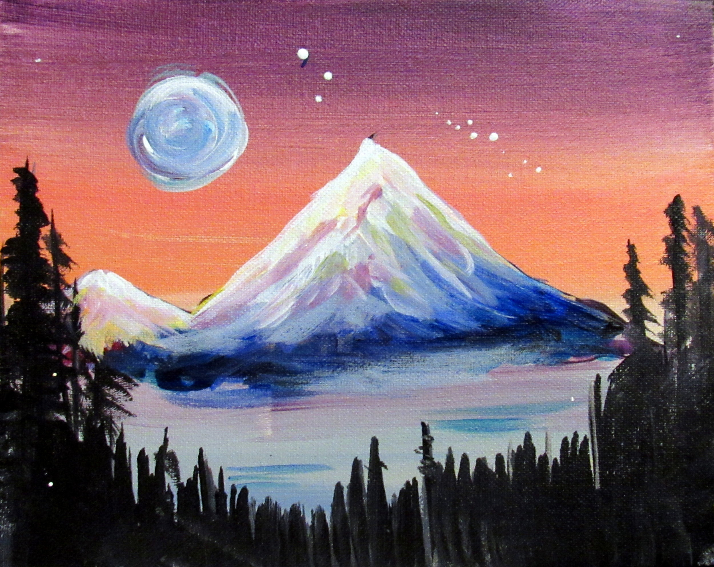 Blue Moon Over Mount Hood