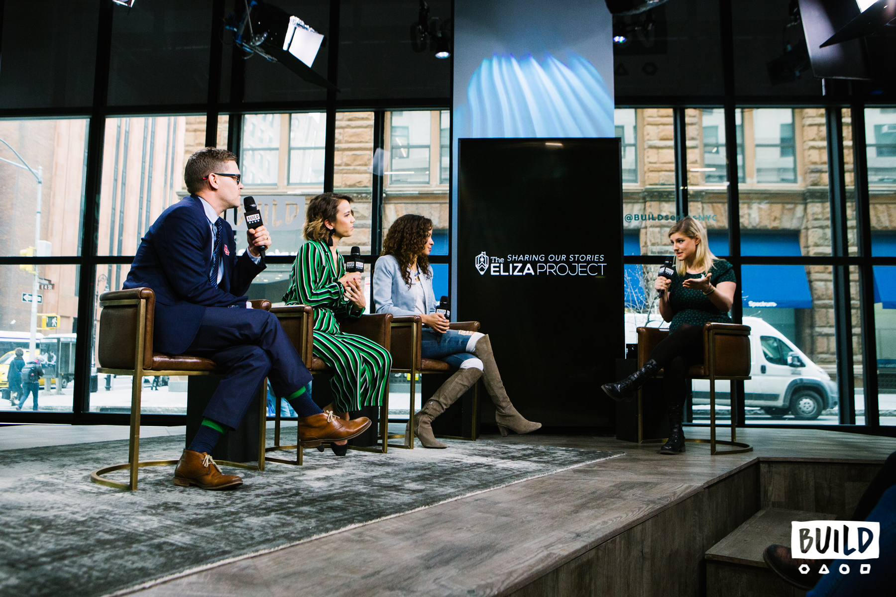 Jess Dannhauser, CEO Graham Windham, Actress/Dancer/Director Morgan Marcell & Hamilton's Lexi Lawson on BUILDSERIES NYC