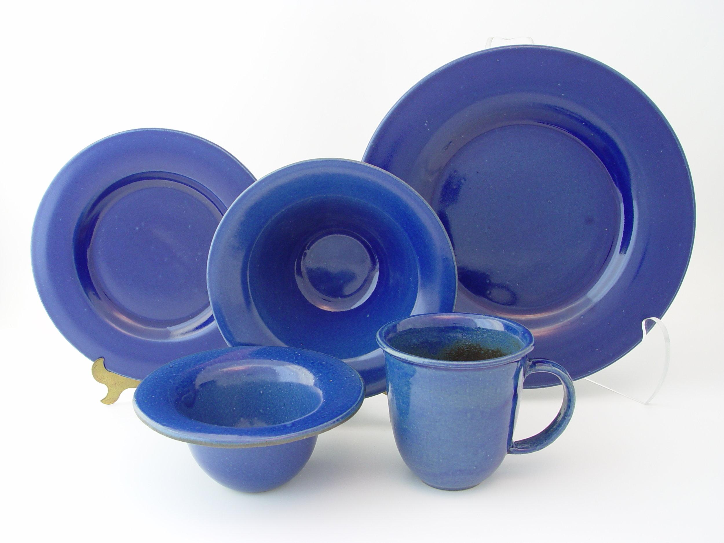 Bright Blue Dinnerware.JPG