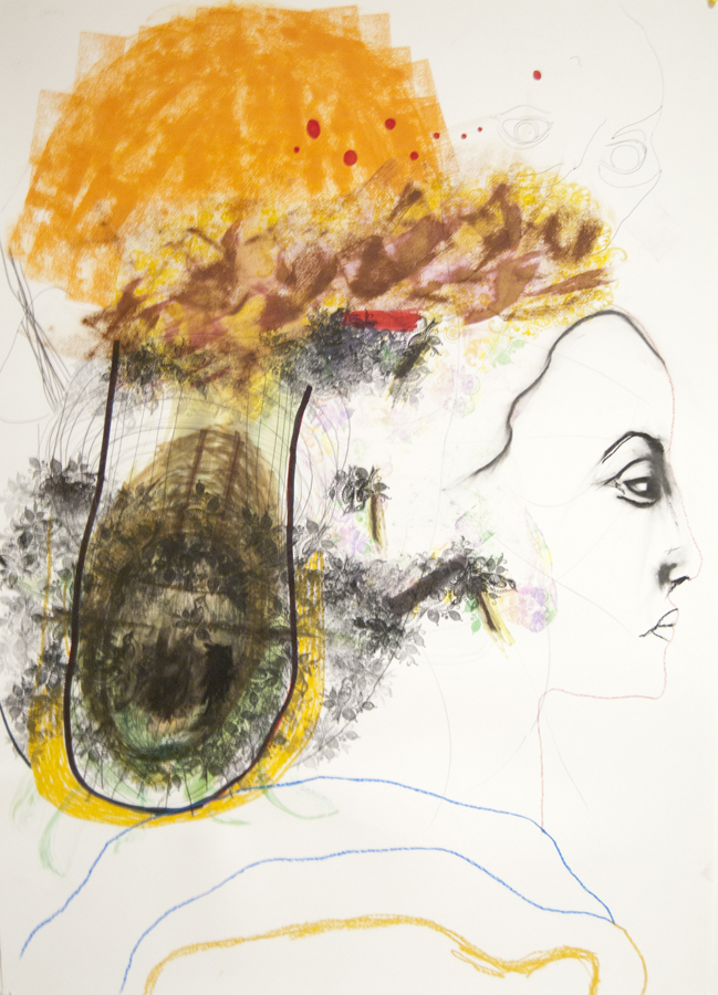 SOLD  mixed media on paper 2010