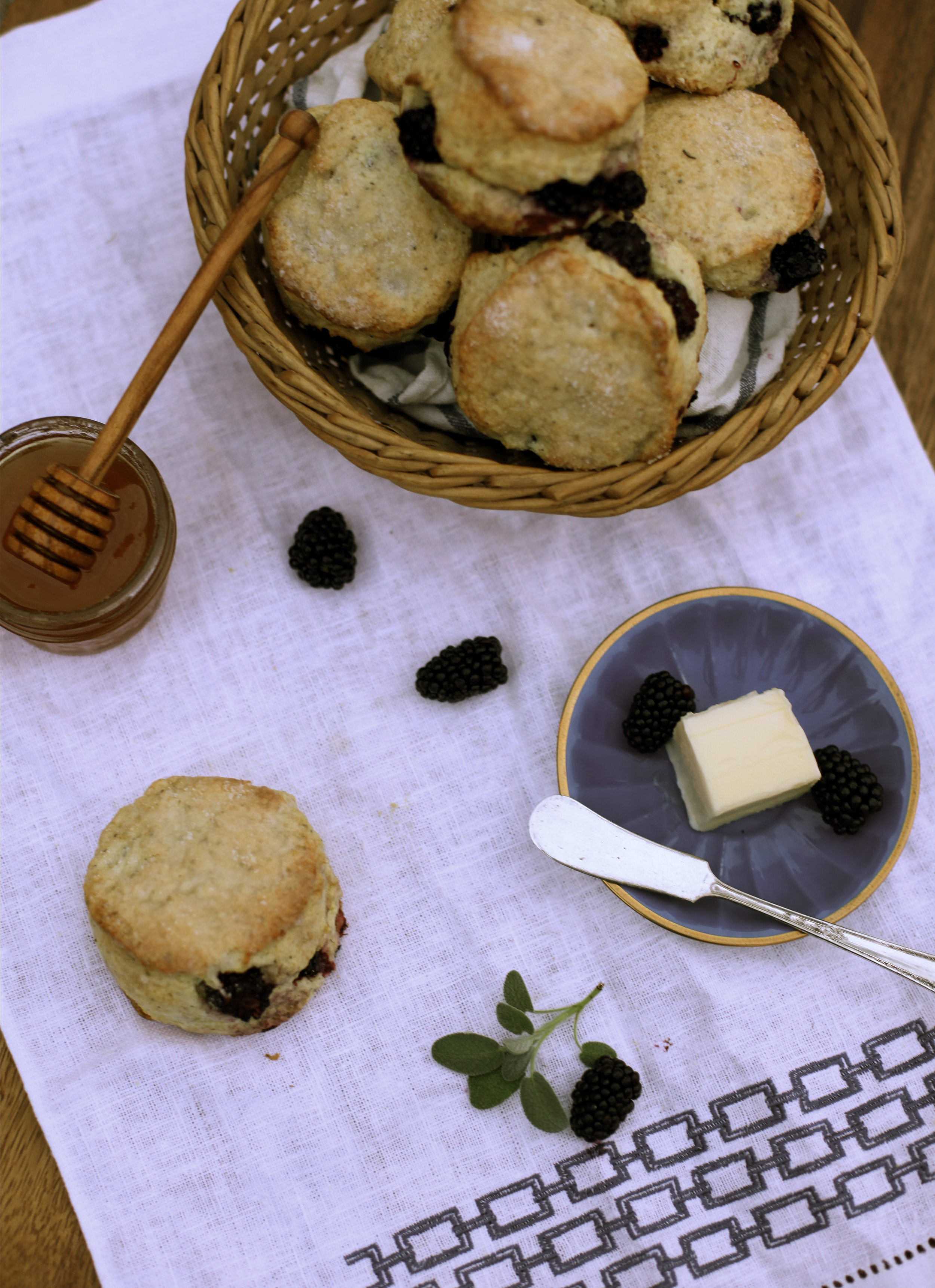 Blackberry and Sage Scones by Wit + Aroma