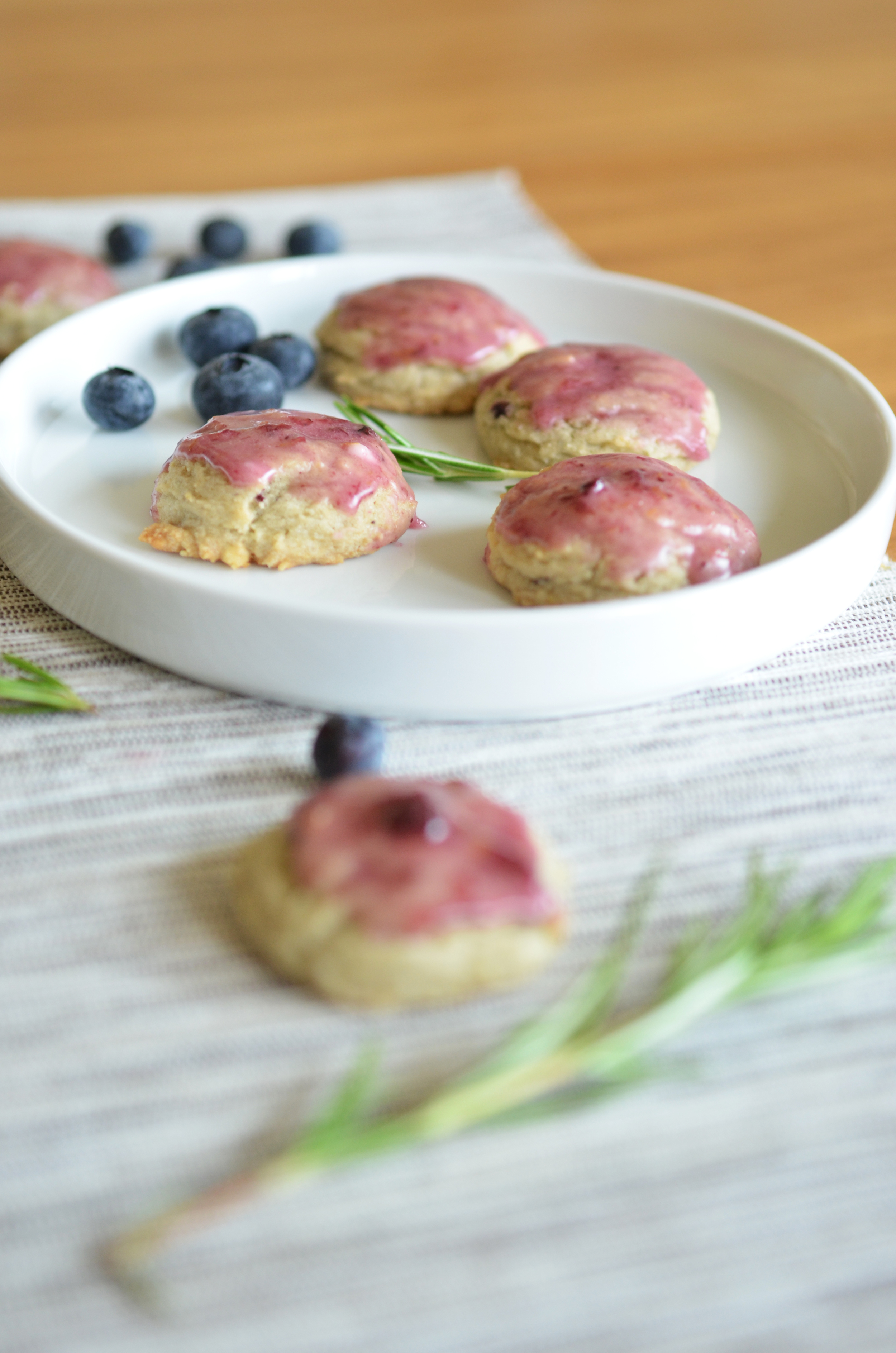 heavenly morsels of blueberry and lemon