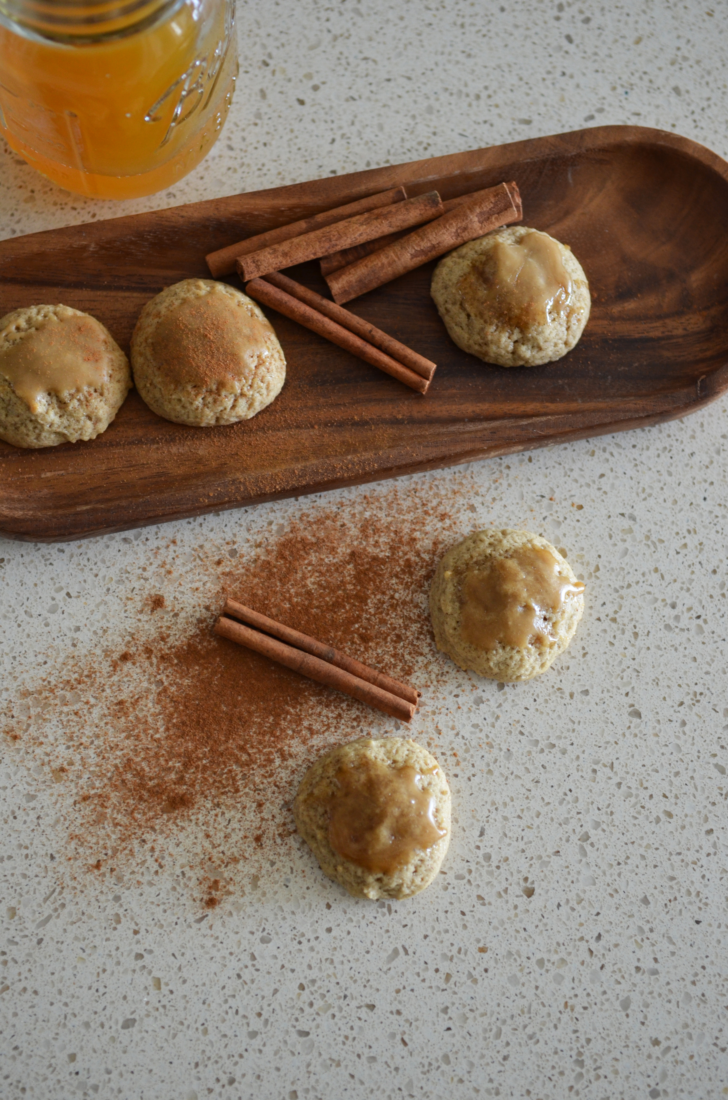 Exuding warmth of autumn. Cider cookies and cinnamon.