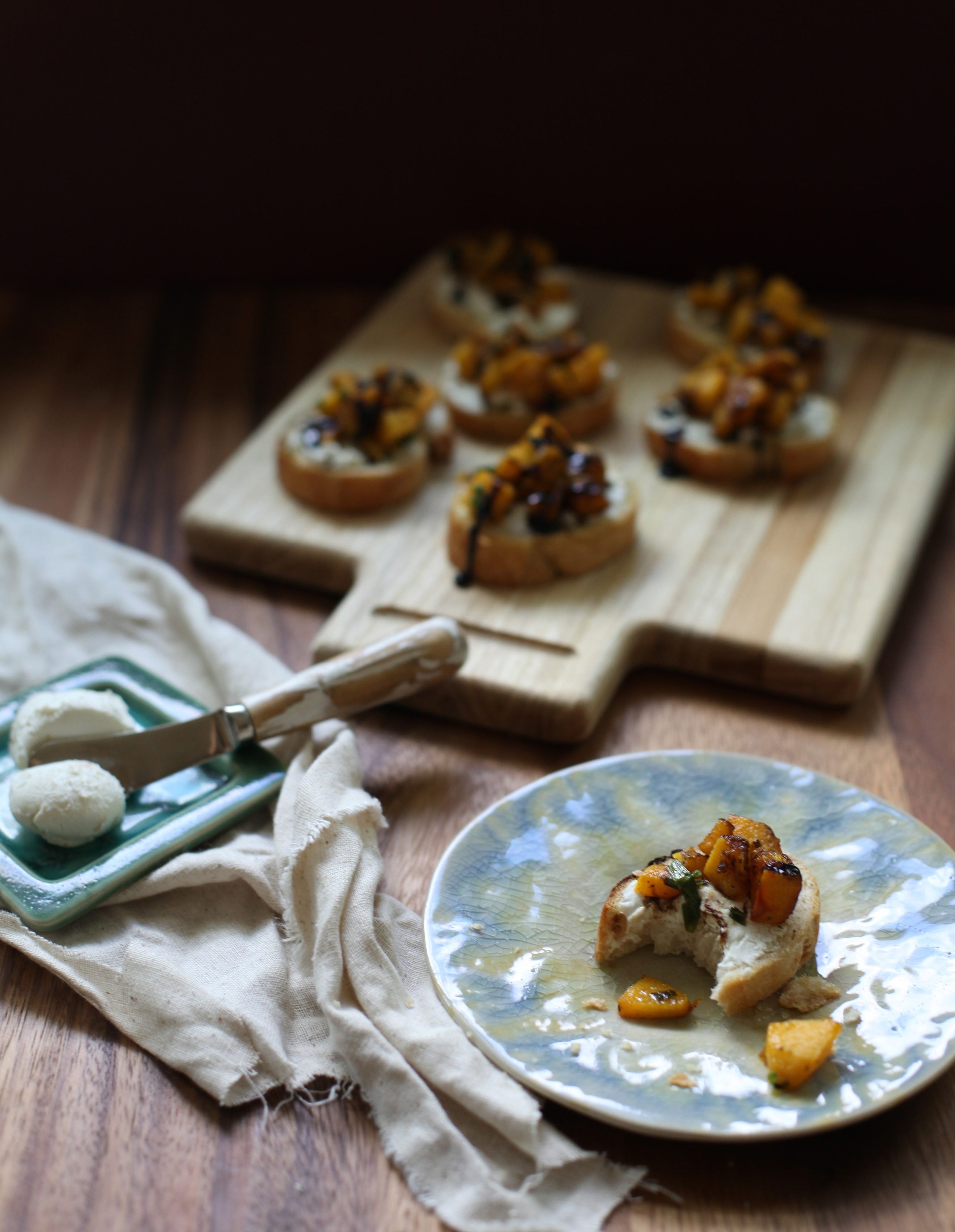 pumpkin bruschetta with reduced balsamic drizzle by Wit + Aroma