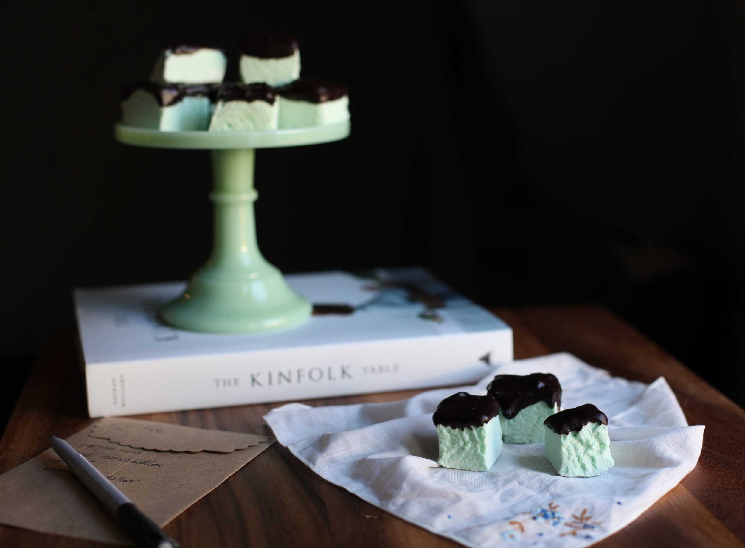 Mint Marshmallow covered in Chocolate by Wit + Aroma