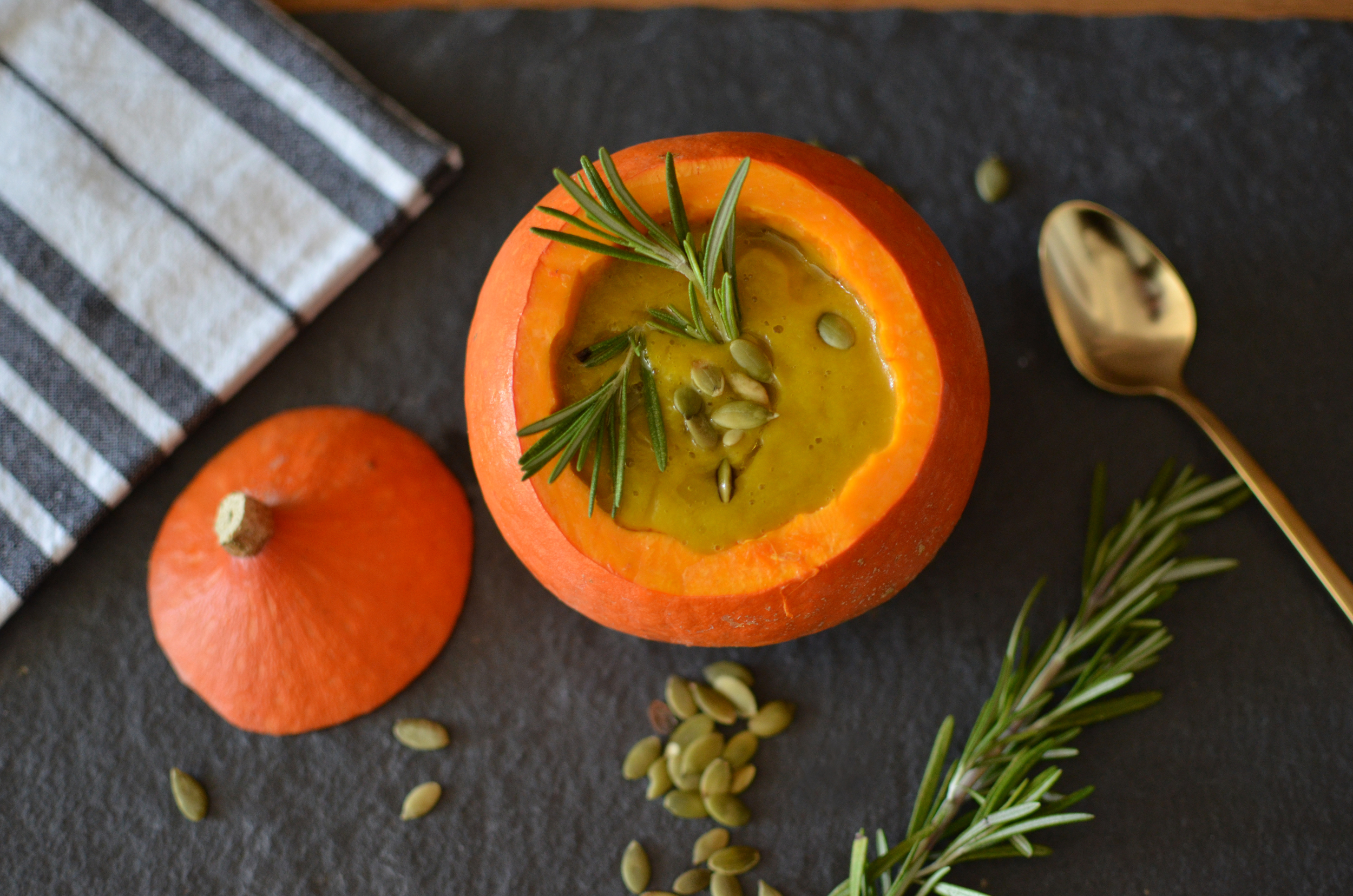 pumpkin rosemary soup