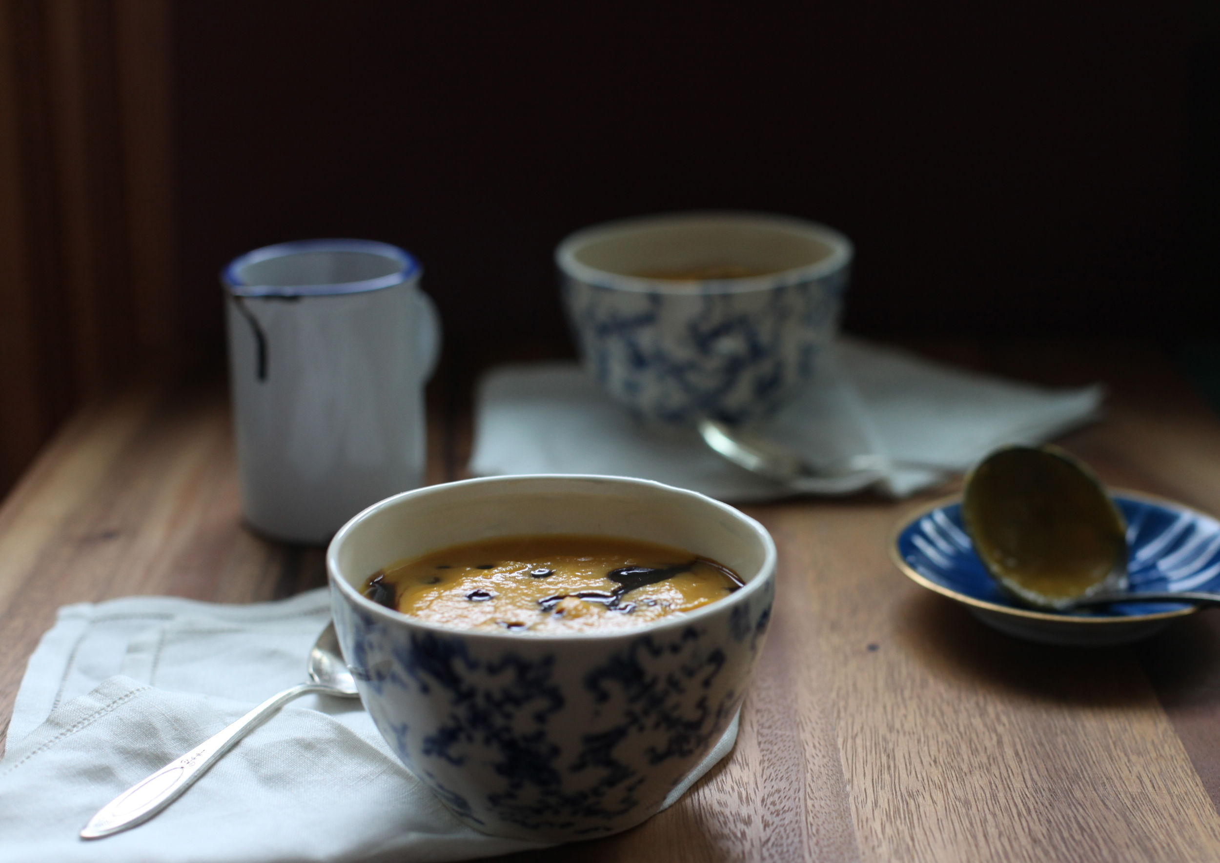 butternut squash soup + reduced balsamic topping by Wit & Aroma