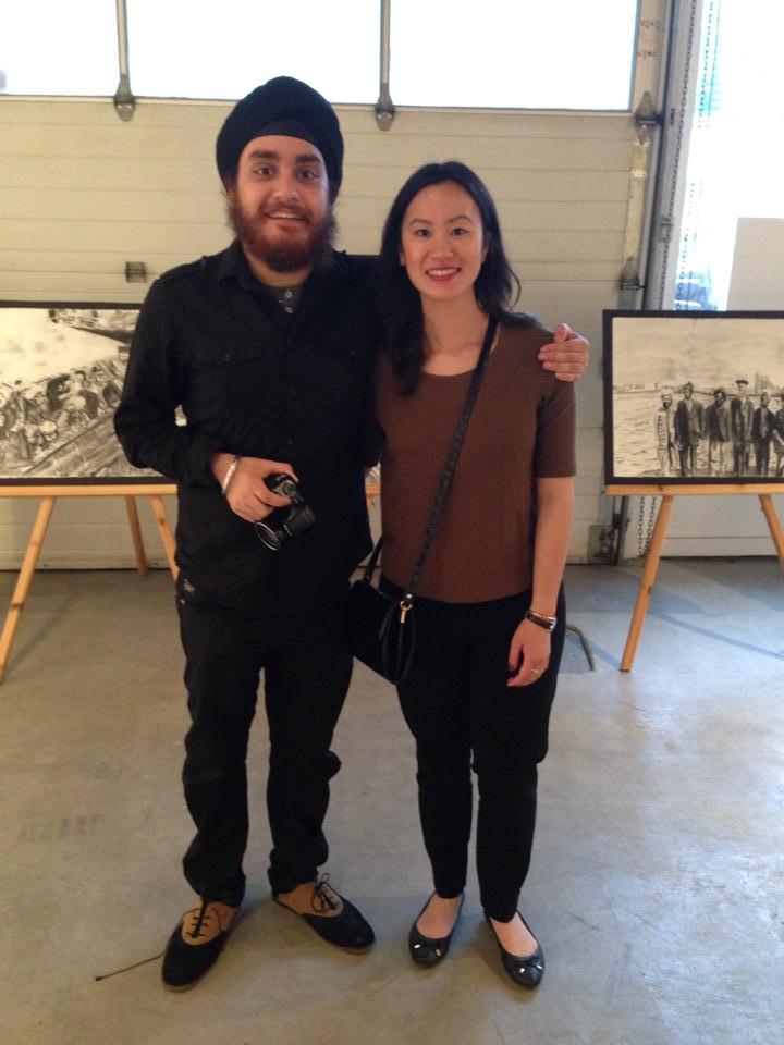 Me with the brilliant artist, Jag Raina