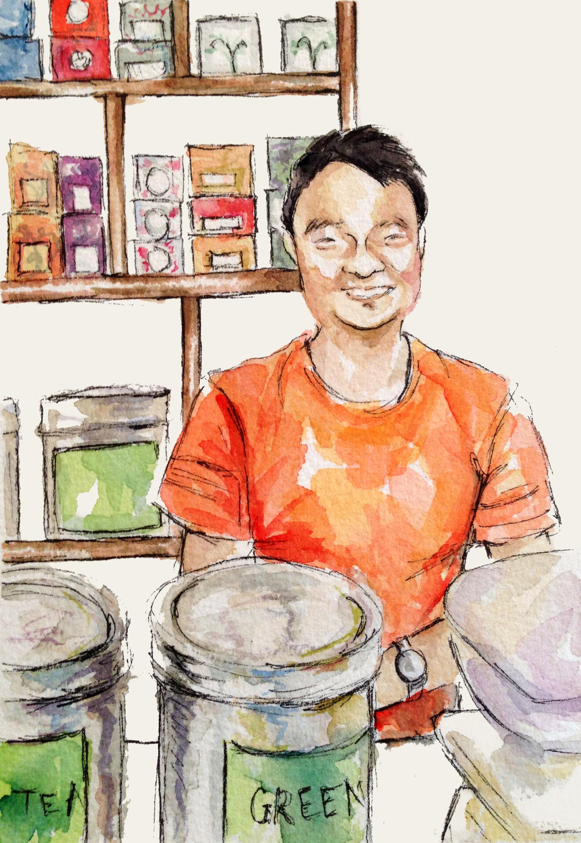 Tea shop owner in Bhaktapur