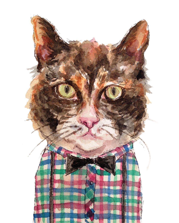 Bow Tie Cat (ORIGINAL SOLD)
