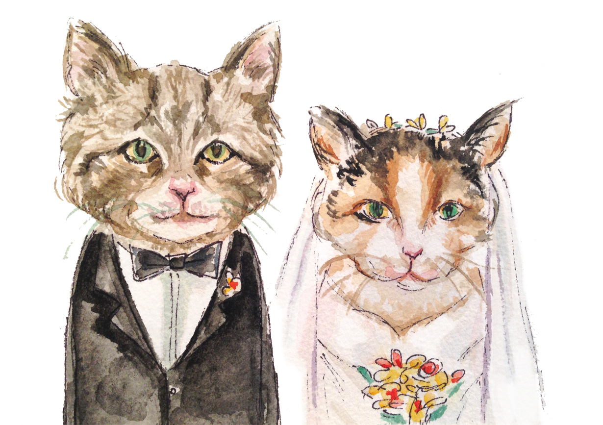 Wedding Cats (ORIGINAL SOLD)