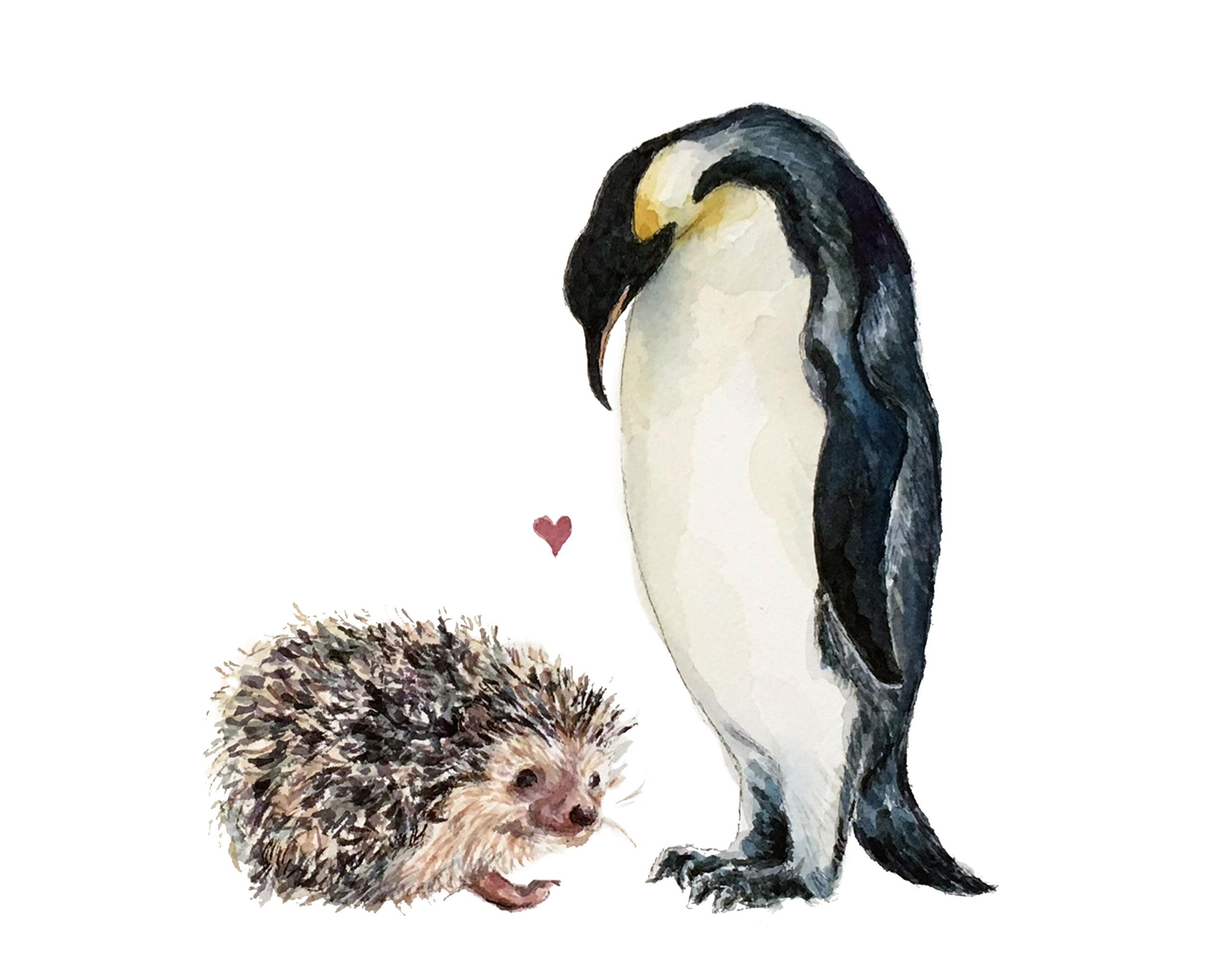 Hedgehog Penguin Love (CUSTOM)