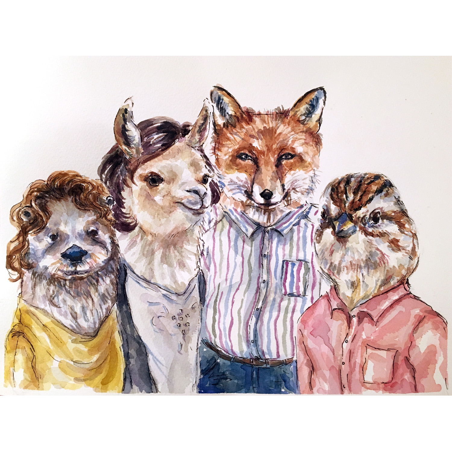 Custom animal family portrait