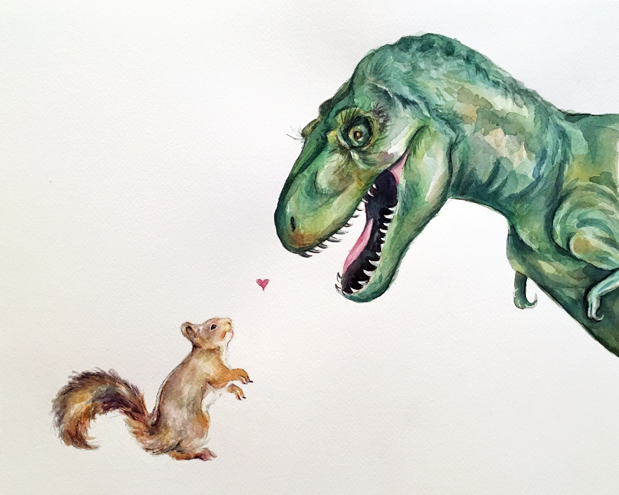 Squirrel Dinosaur Love (CUSTOM)