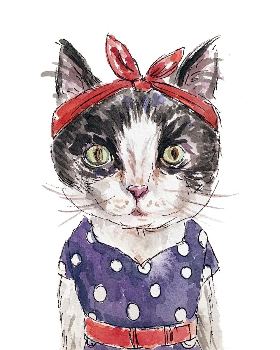 Rockabilly Cat