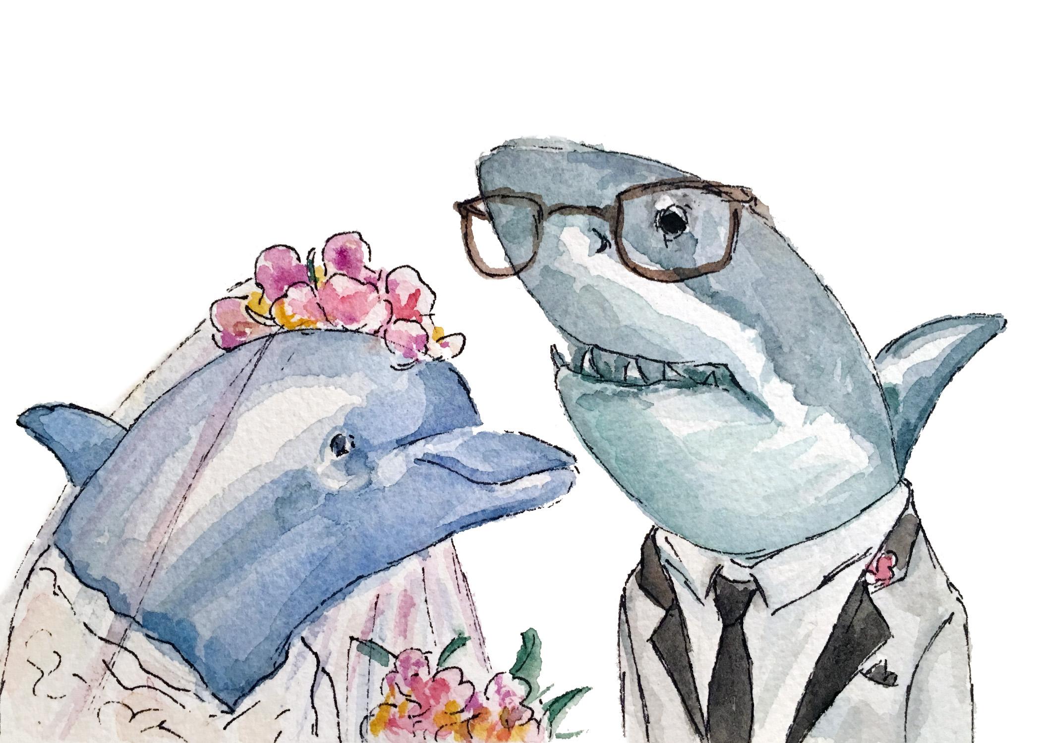 Dolphin and Shark Wedding
