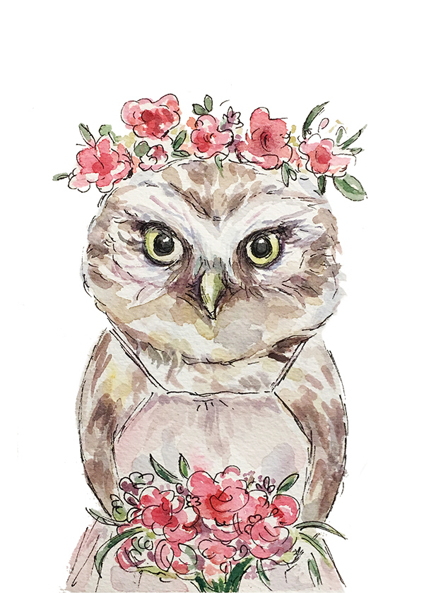 Owl Bridesmaid