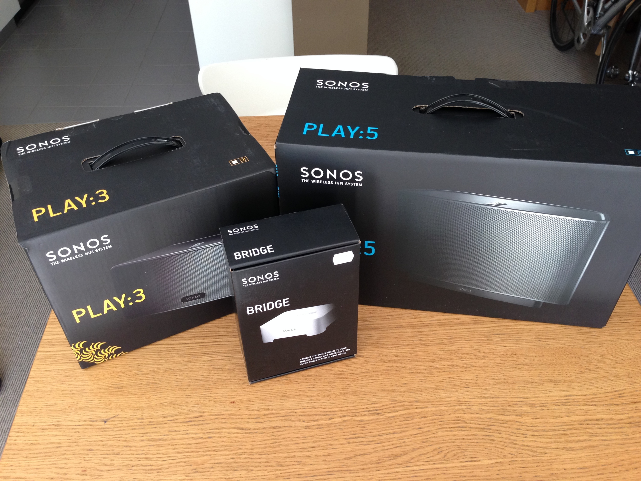 My new toys - SONOS PLAY:5, PLAY:3 and the ZoneBridge