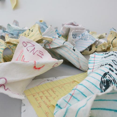 Bubbler Made 2014, Handmade Paper . . . May 2 - June 26