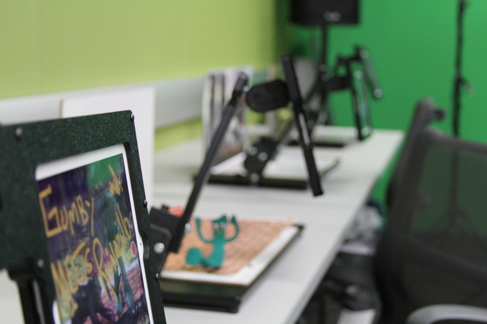 The Media Lab provides a variety of workshops includes stop motion animation.