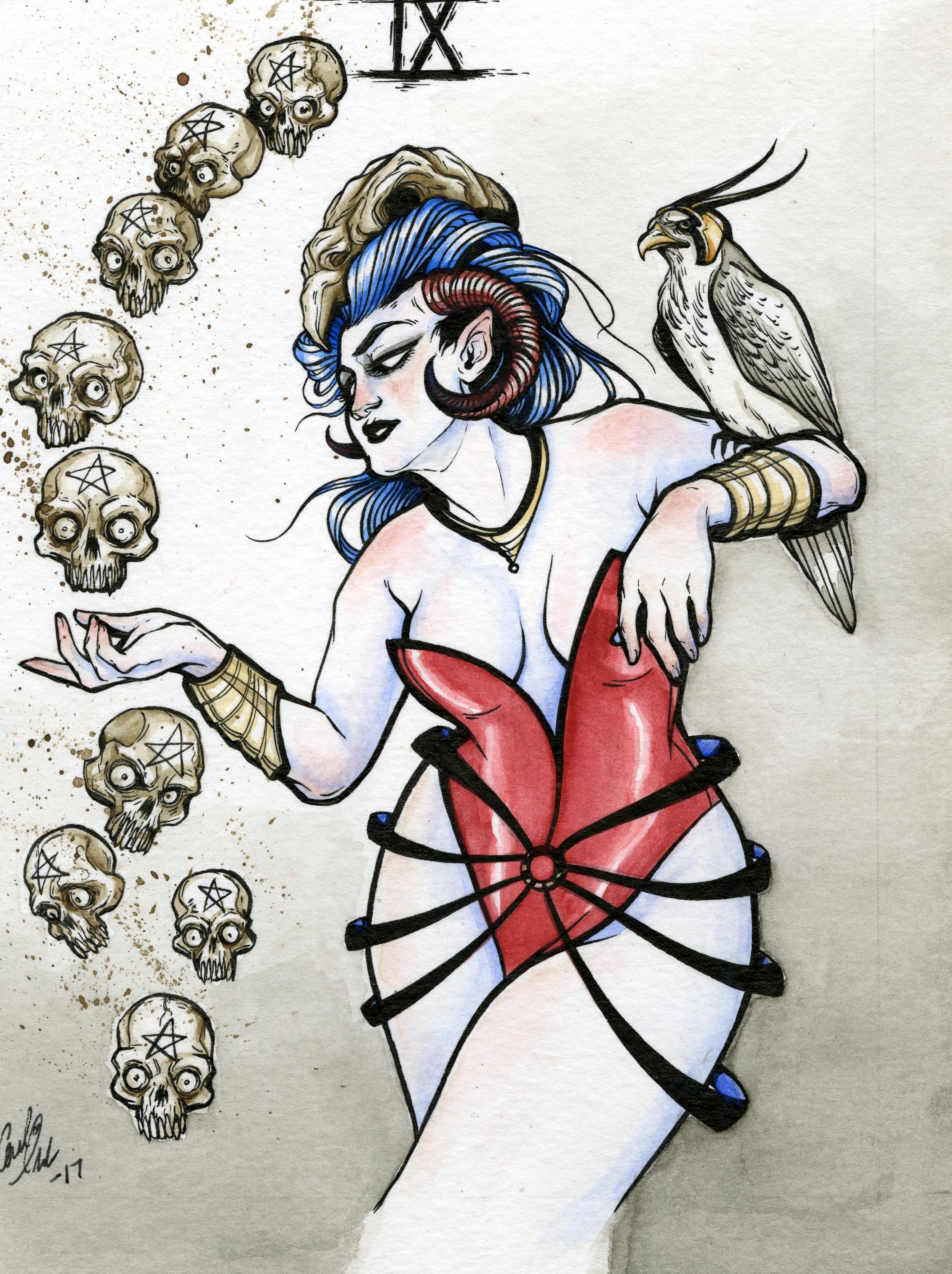 Carli Hide - Nine of Pentacles
