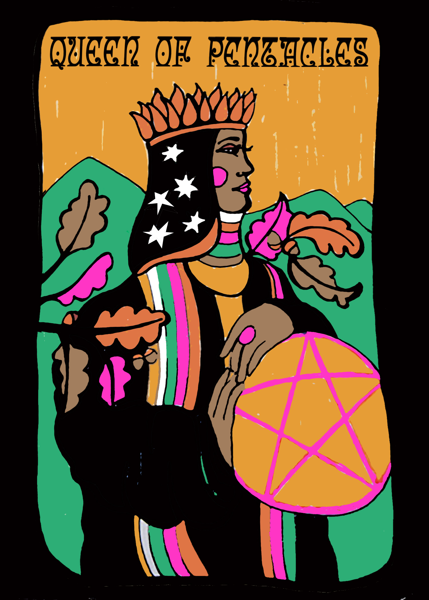 Lesley Numbers - Queen of Pentacles