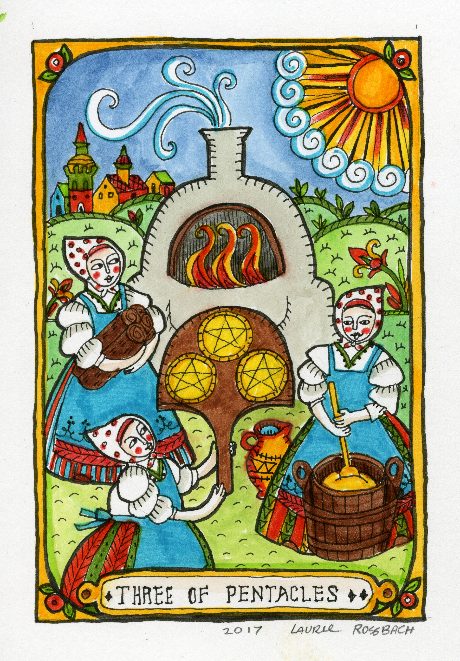 Laurie Rossbach - Three of Pentacles