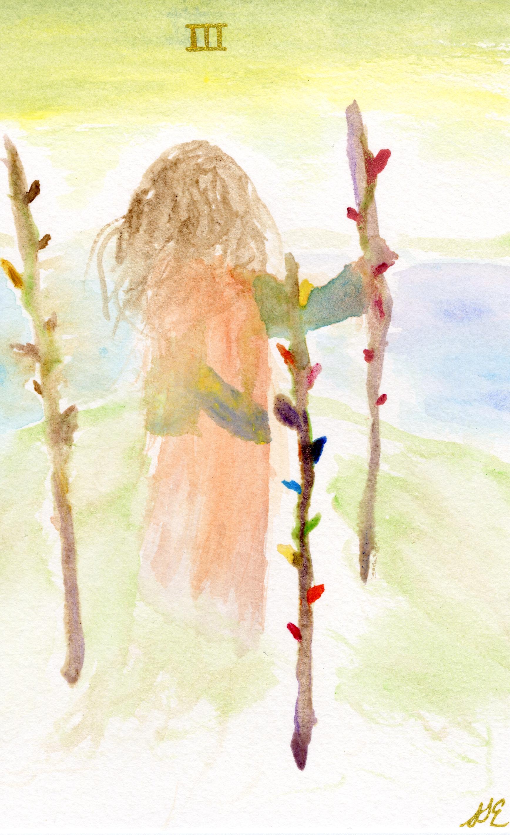 Sarah Traut-Ebert - Three of Wands