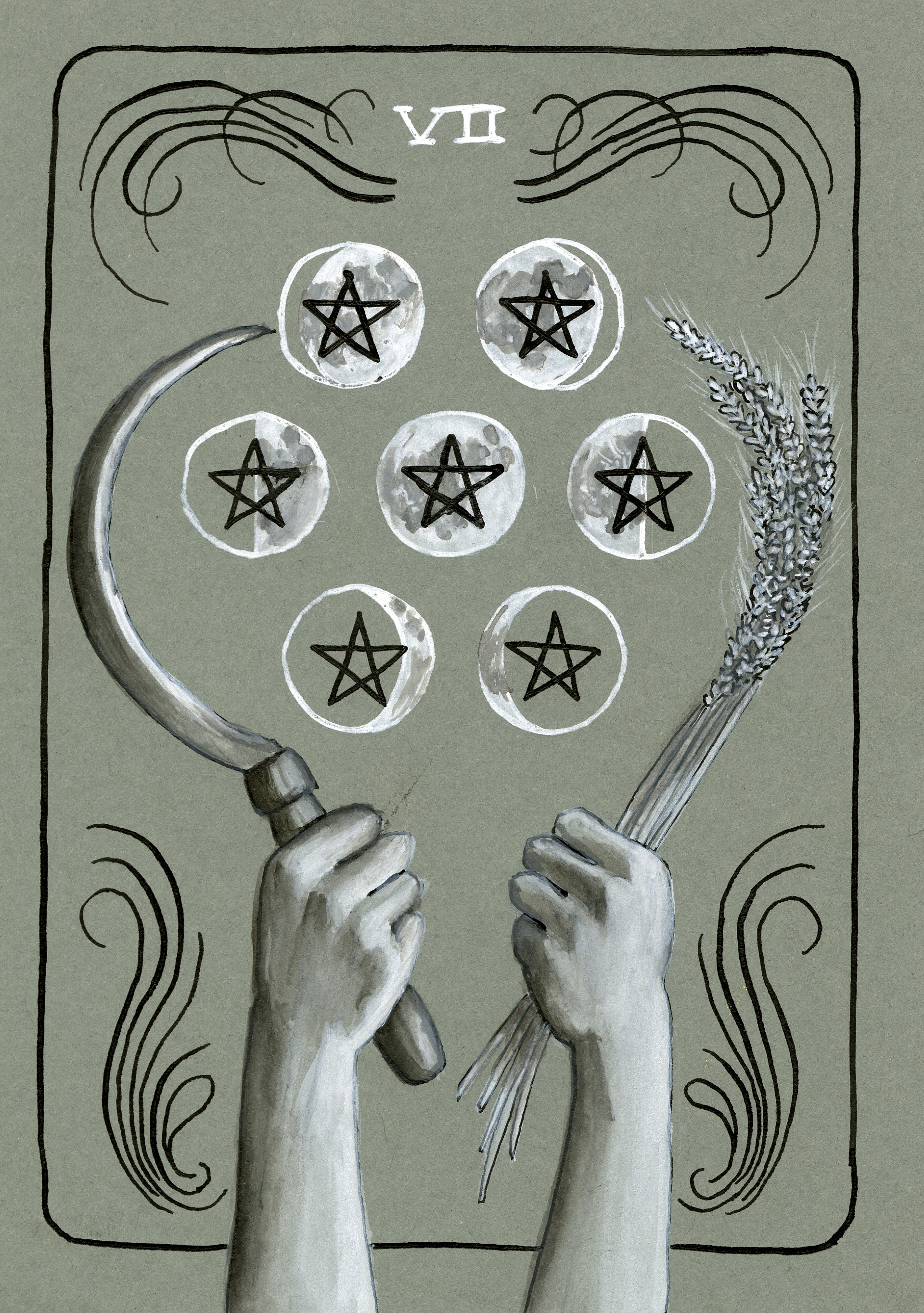 Katie Umhoefer - Seven of Pentacles