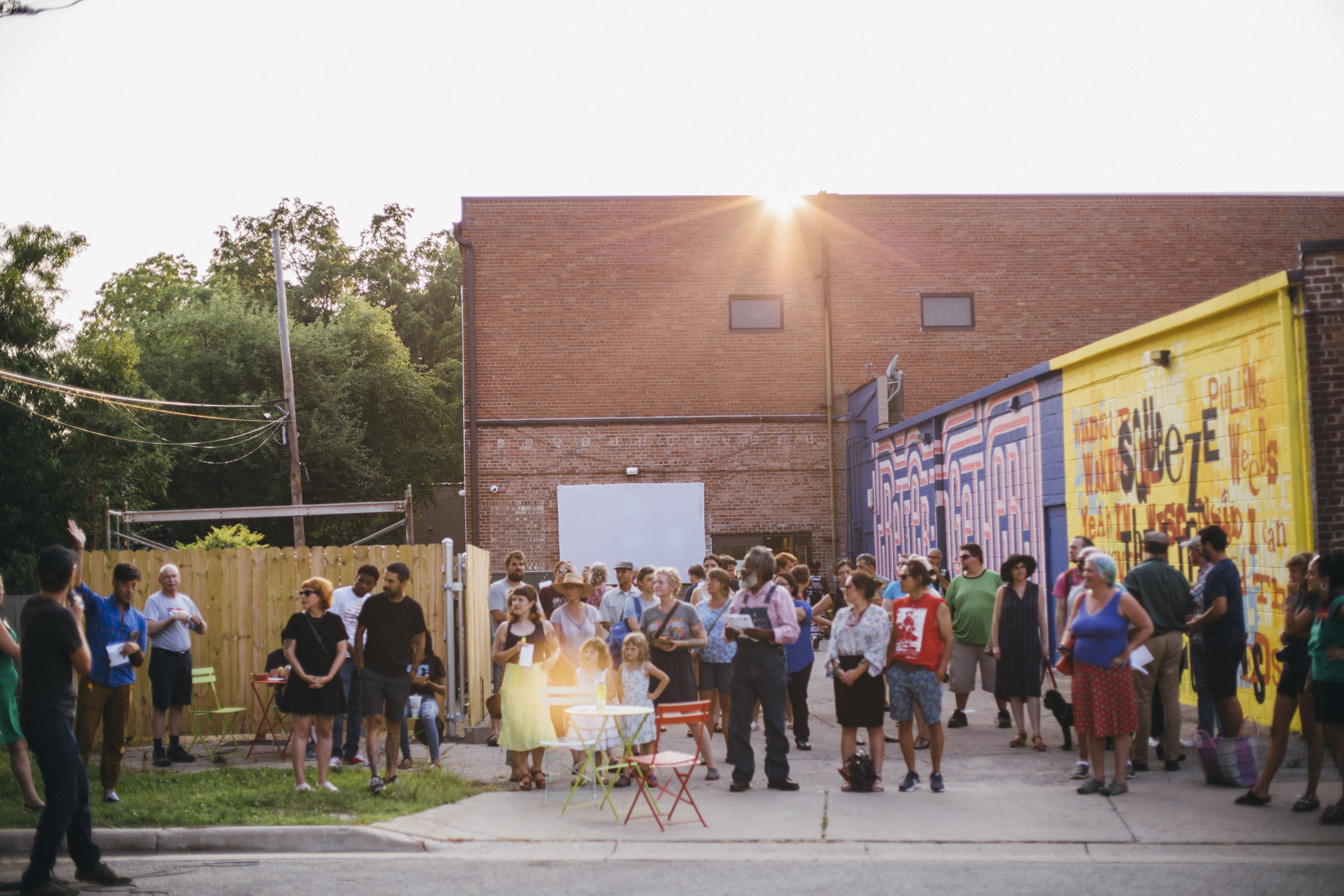 Photo taken by Jennifer Bastian at the Madison Mural Alley Opening Celebration behind Hawthorne Library.