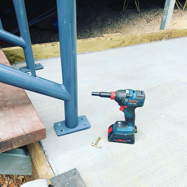 Not only are they great tools on the Sprintcar, they're great for handyman jobs- fixing a handrail today!! #BoschBlueTools #GoodBetterBosch
