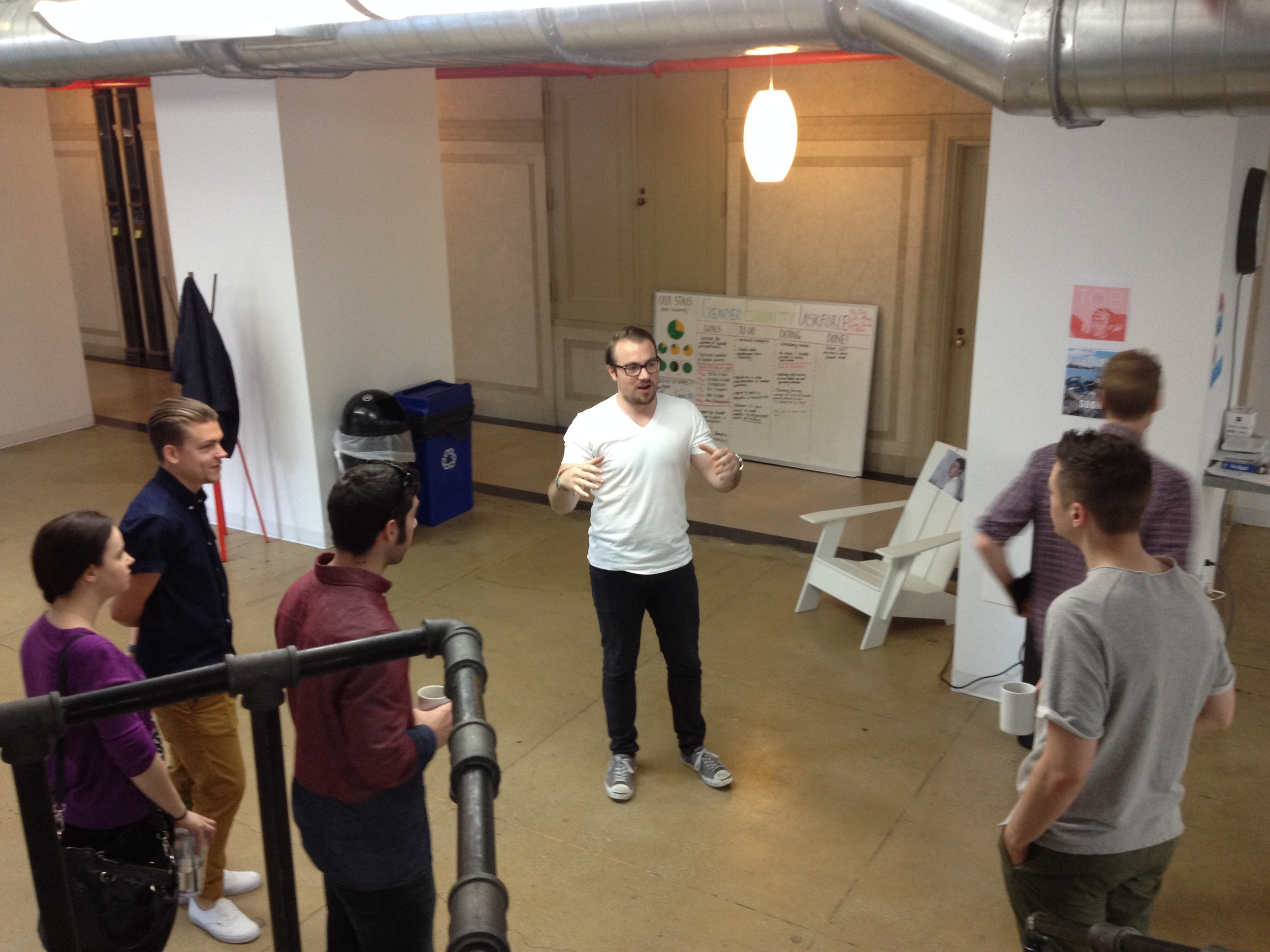 Carl, an ustwo strategist, giving the studio tour.